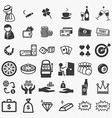 Casino icons set vector image