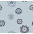 Seamless Abstract Colored Snowflakes Pattern vector image