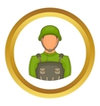 Soldier icon vector image