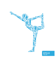 yoga concept vector image vector image