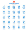 Modern Flat Line Color Icons Education and vector image vector image