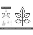 Plant growing line icon vector image