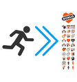 exit direction icon with love bonus vector image