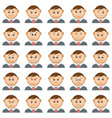 office smileys set vector image vector image