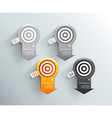 Set of orange and grey labels for wide variety of vector image vector image