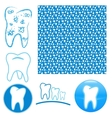 Logo set of teeth vector image vector image
