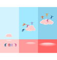 People and clouds Success concept EPS 10 vector image vector image