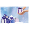 Christmas background with gift boxes Concept of vector image vector image