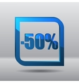 Sale fifty percents label vector image