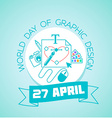 27 April World Day of Graphic Design vector image