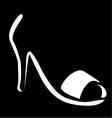 Abstract logo for designer footwear vector image