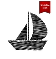 Sail Boat icon vector image