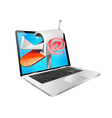 laptop and email vector image vector image