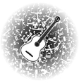 acoustic guitar on the background of musical notes vector image
