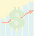 Sales Bar Chart Growth of dollar vector image