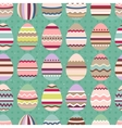 Seamless easter pattern with painted eggs Endless vector image