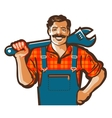 plumber logo wrench or handyman icon vector image