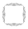 black square frame with floral patterns vector image