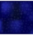 Blue Snow Winter Background vector image