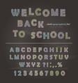 chalk font design on the chalkboard background vector image