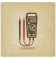 digital multimeter symbol old background vector image