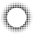 Halftone dots circle vector image