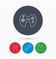 Joystick icon Video game sign vector image