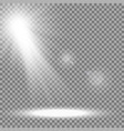 light circle with a spotlight white color vector image