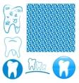 Logo set of teeth vector image