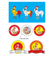 Rooster cartoon and logo vector image