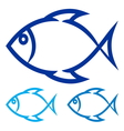 Fish symbol vector image vector image