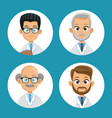 group doctor professional icons round vector image