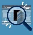 Door in internet browser data security concept vector image
