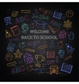 Back to school color set vector image