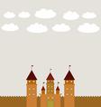 Card With Castle princess fairytale landscape vector image