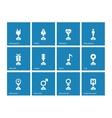 Award icons on blue background vector image