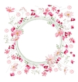 Detailed contour wreath with herbs sweet peas and vector image vector image