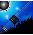 Air guitar and crowd background vector image vector image