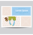 Cute Baby Boy Arrival Card - for Baby Shower vector image vector image