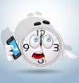 Watch smile always on the phone vector image