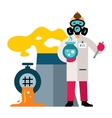 Ecology Control of environmental pollution Flat vector image