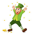 funny cartoon leprechaun for saint patrick day vector image