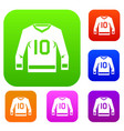 hockey jersey set color collection vector image