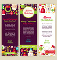 Merry Christmas Party Invitation Template Flyer vector image