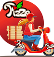 pizza delivery9 vector image
