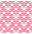 seamless geometric pattern with hearts vector image