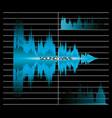 sound wave design vector image