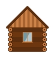 Wooden house architecture design estate old wall vector image