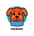 Dog Walker logo Dog logo Logo veterinarian clinic vector image