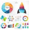 circle infographic set Business diagrams vector image